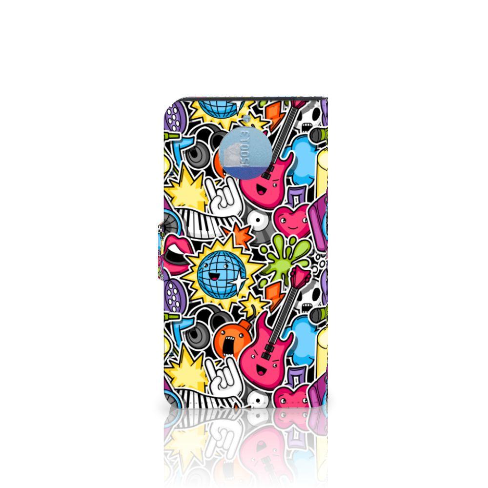 Motorola Moto G5S Plus Wallet Case met Pasjes Punk Rock