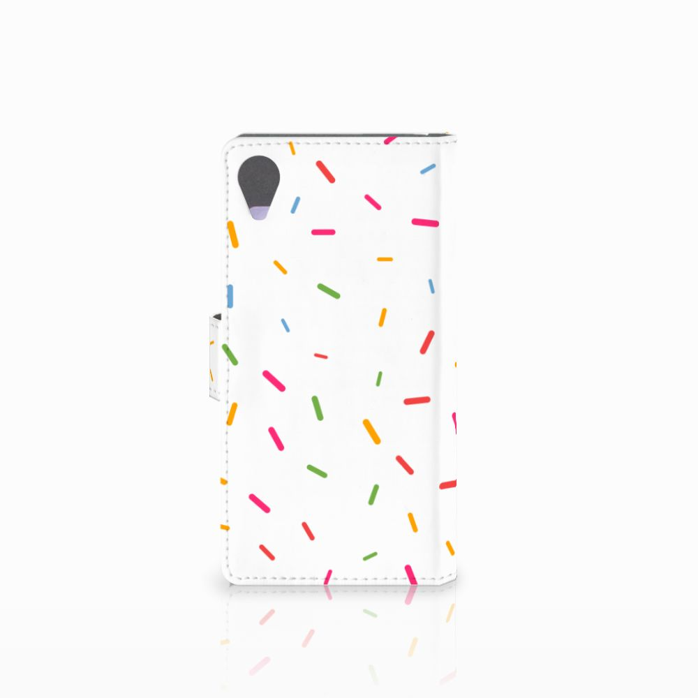 Sony Xperia X Performance Book Cover Donut Roze