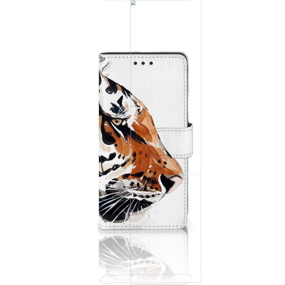 Huawei Ascend P8 Lite Uniek Boekhoesje Watercolor Tiger