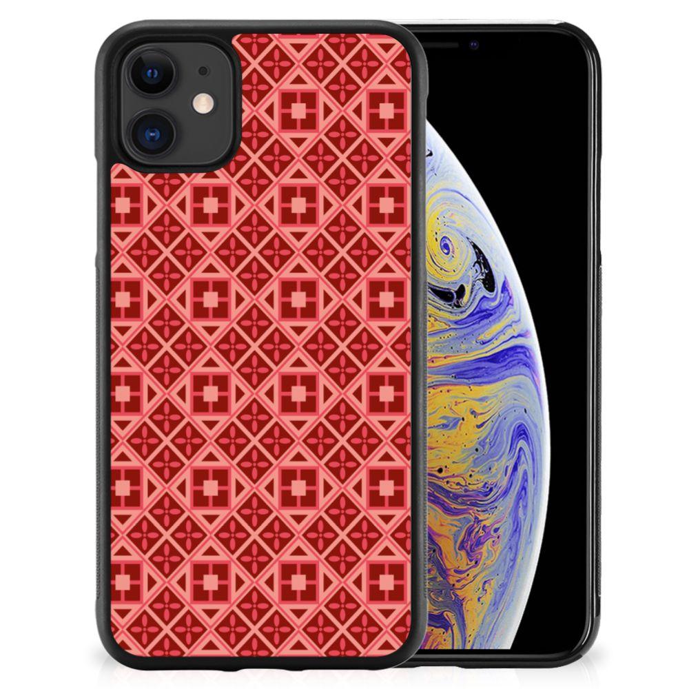 Apple iPhone 11 Bumper Case Batik Rood