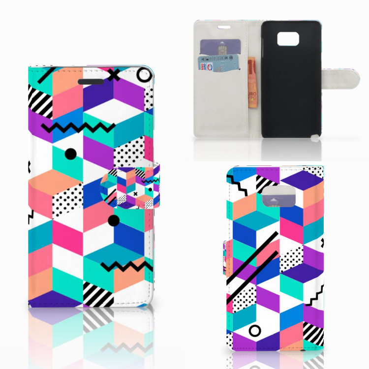 Samsung Galaxy Note 5 Bookcase Blokken Kleurrijk