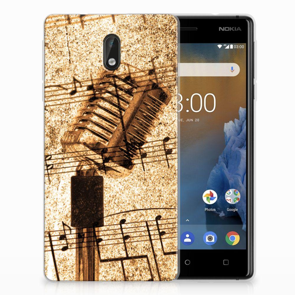 Nokia 3 Uniek TPU Hoesje Bladmuziek