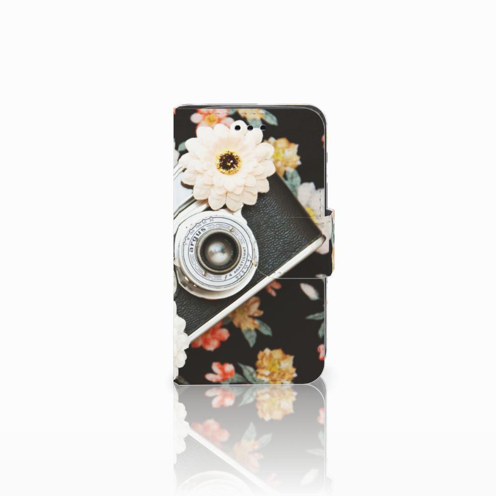 Samsung Galaxy Trend 2 Uniek Boekhoesje Vintage Camera