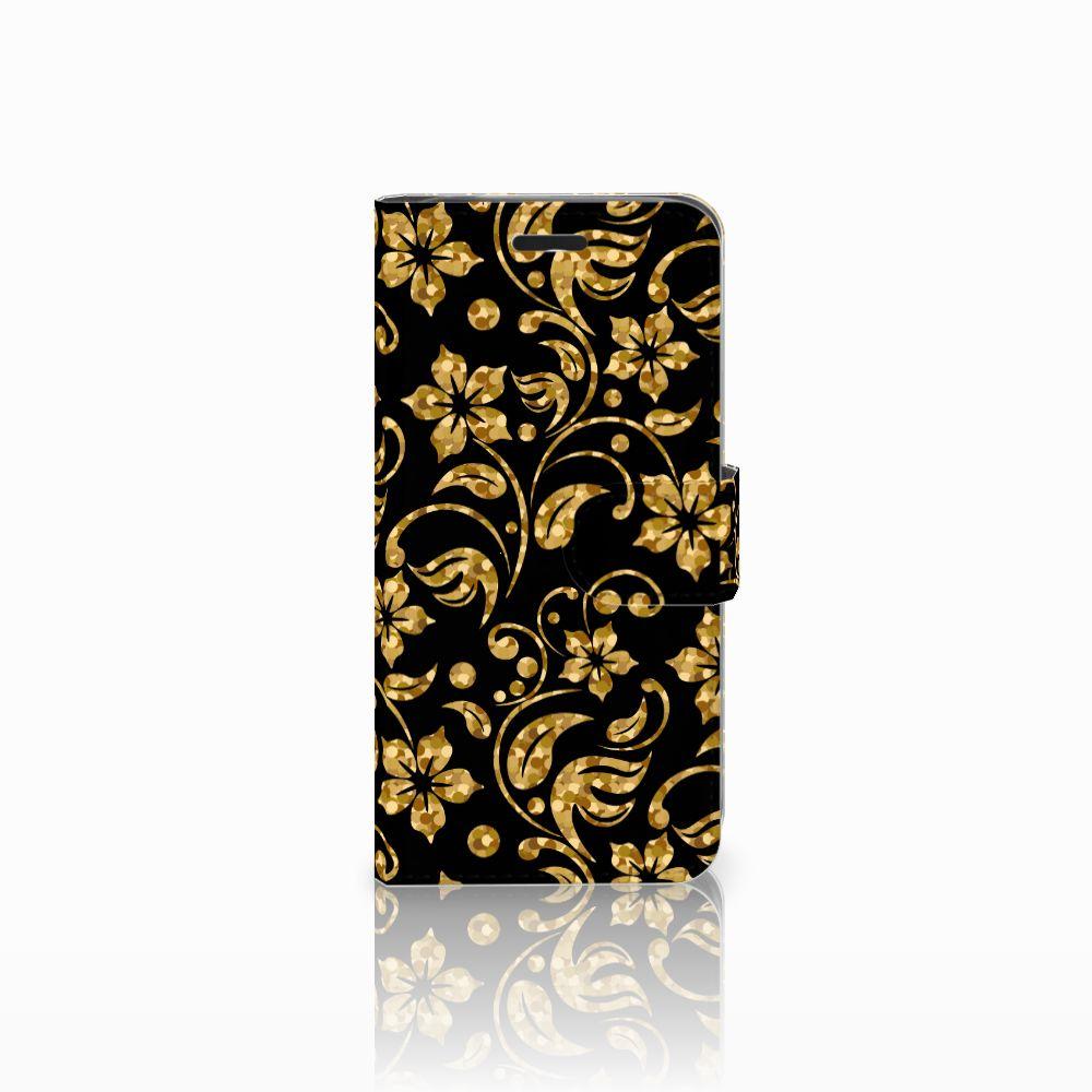 Acer Liquid Z530 | Z530s Boekhoesje Design Gouden Bloemen