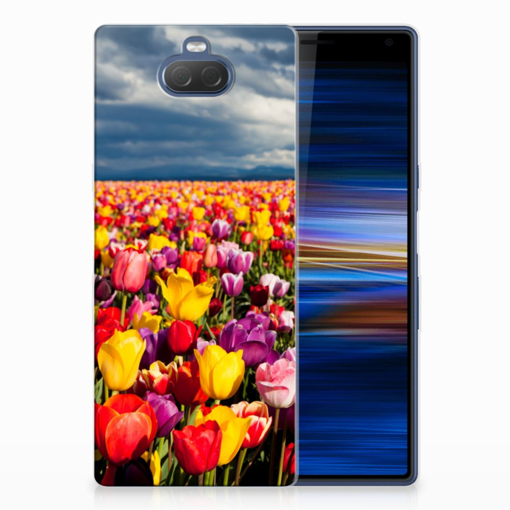 Sony Xperia 10 Plus Uniek TPU Hoesje Tulpen