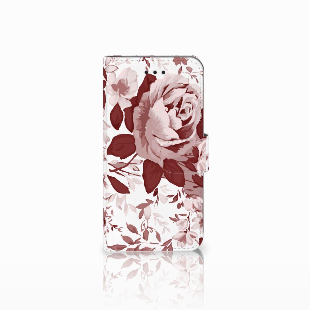 Apple iPhone X | Xs Uniek Boekhoesje Watercolor Flowers