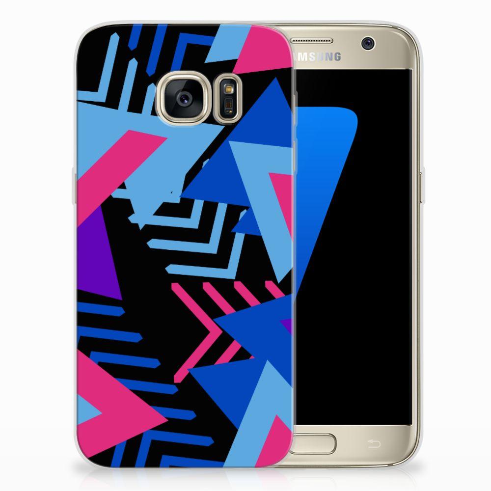 Samsung Galaxy S7 TPU Hoesje Funky Triangle
