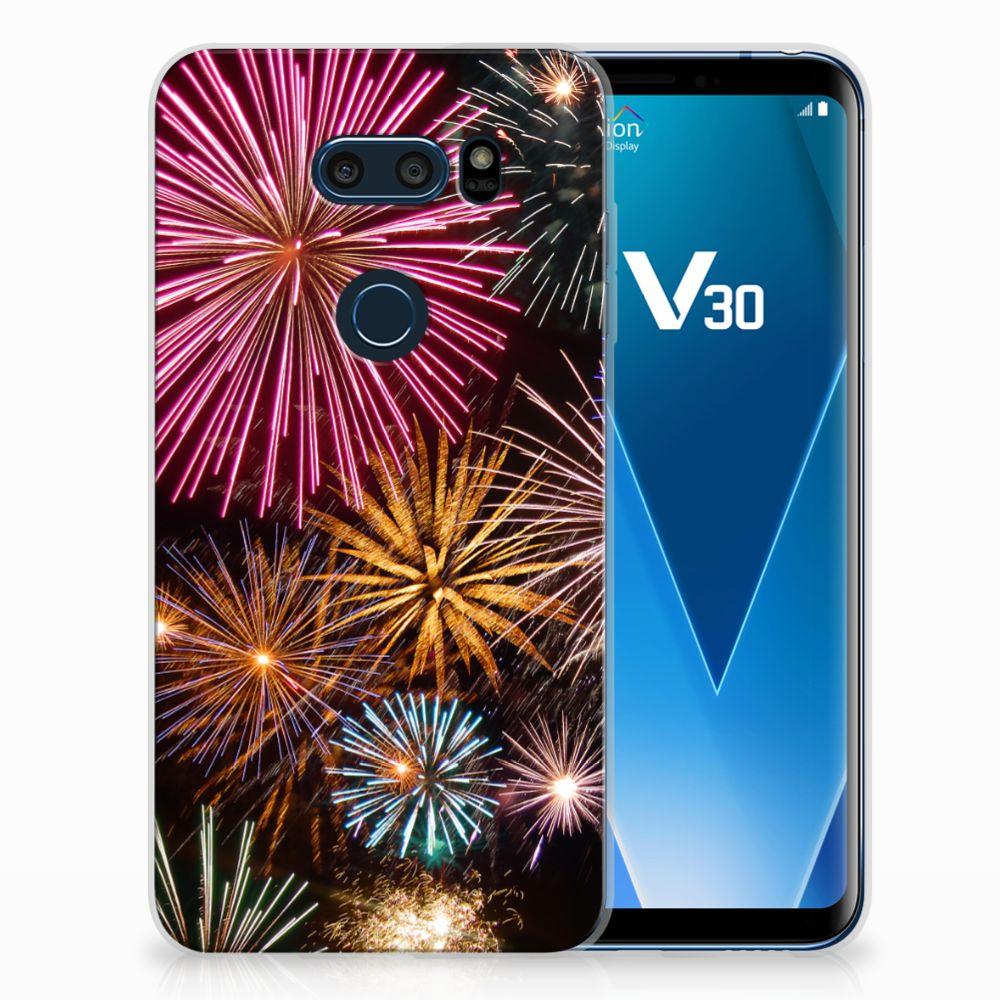 LG V30 TPU Hoesje Design Vuurwerk