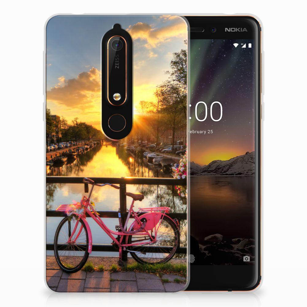 Nokia 6 (2018) Uniek TPU Hoesje Amsterdamse Grachten