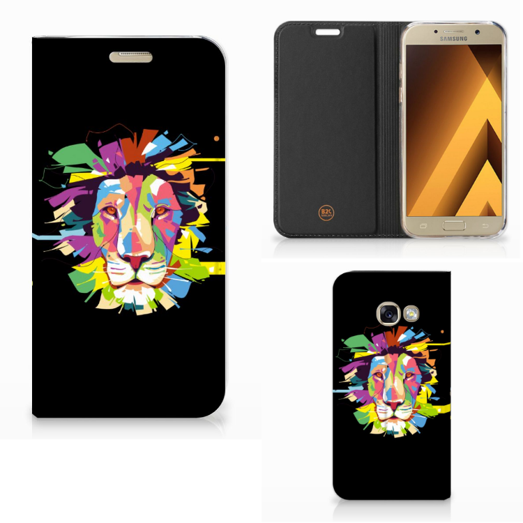 Samsung Galaxy A3 2017 Magnet Case Lion Color