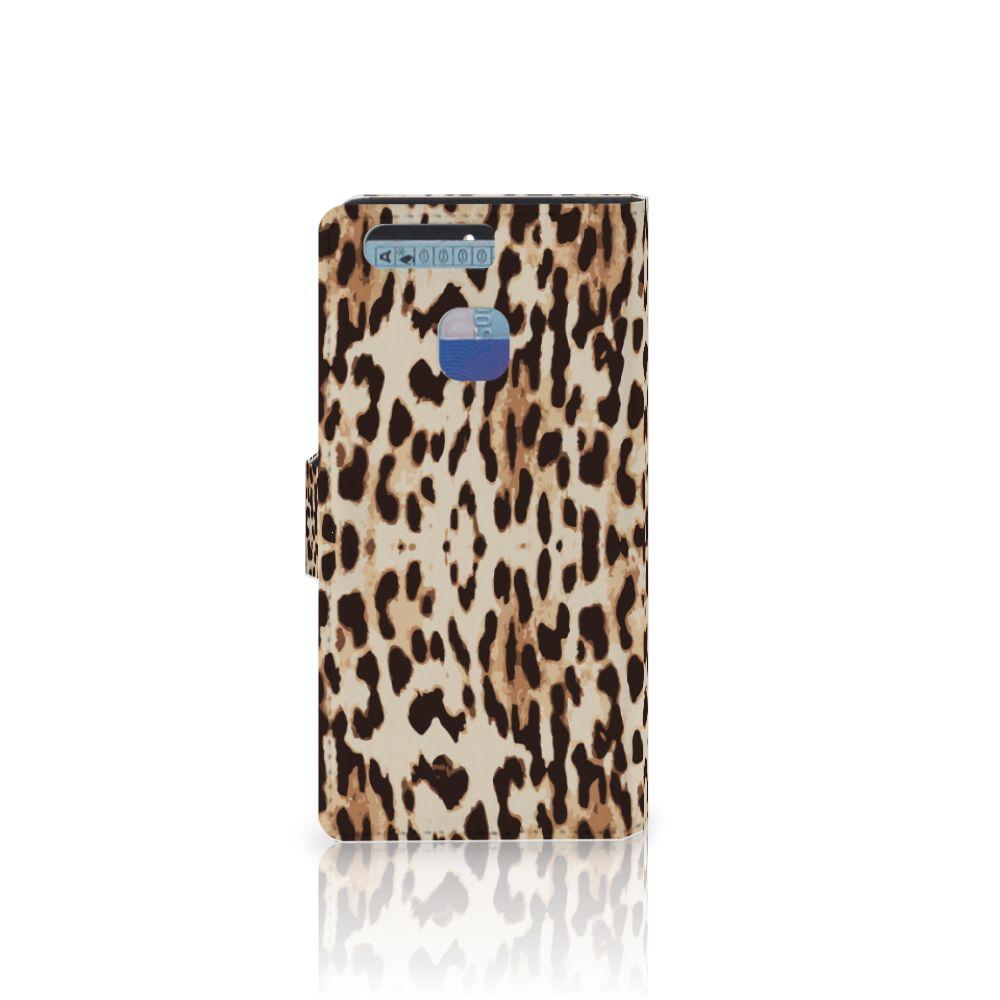 Huawei P9 Telefoonhoesje met Pasjes Leopard