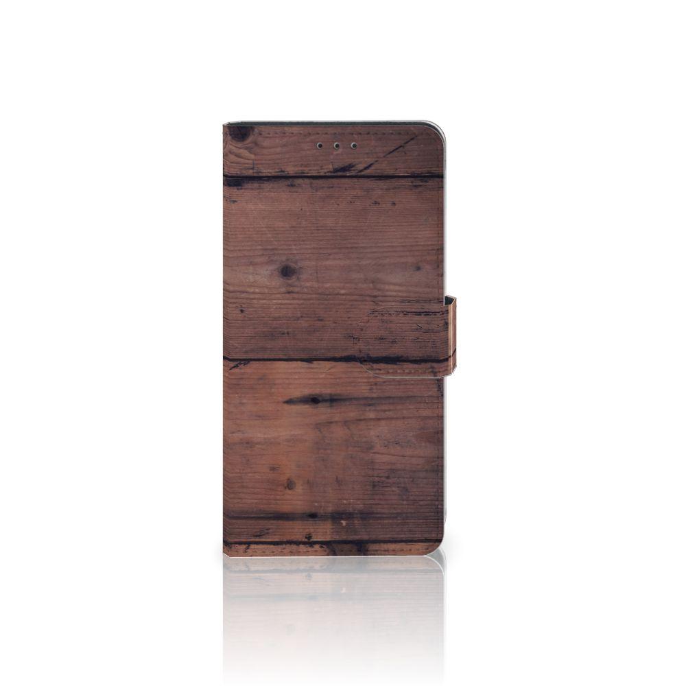 Samsung Galaxy A7 (2018) Uniek Boekhoesje Old Wood