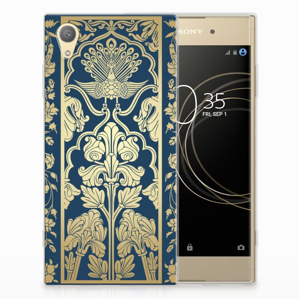 Sony Xperia XA1 Plus TPU Hoesje Golden Flowers