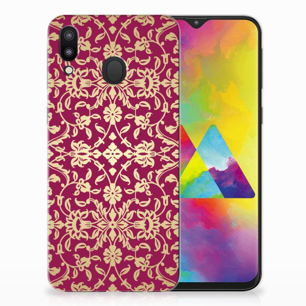 Samsung Galaxy M20 TPU Hoesje Design Barok Pink