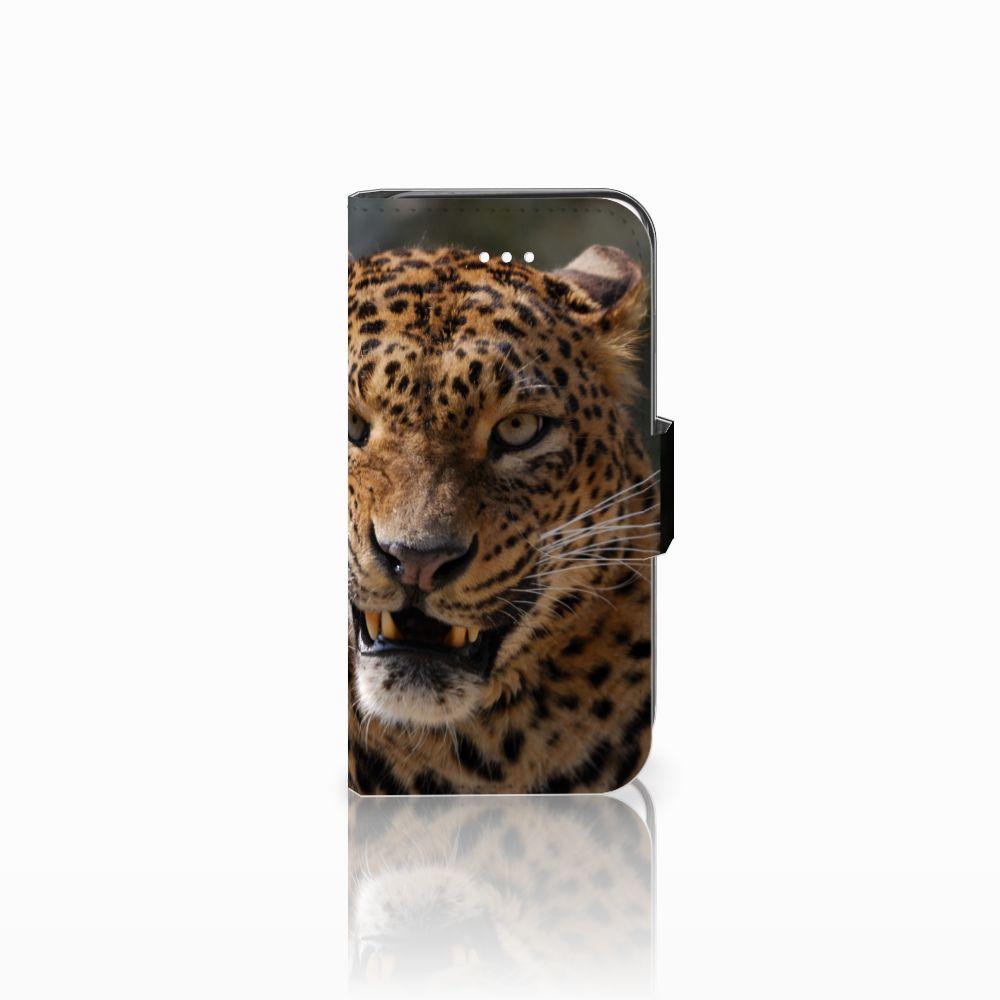 Apple iPhone 5 | 5s | SE Telefoonhoesje met Pasjes Luipaard