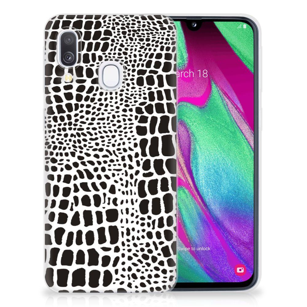 Samsung Galaxy A40 TPU Hoesje Slangenprint