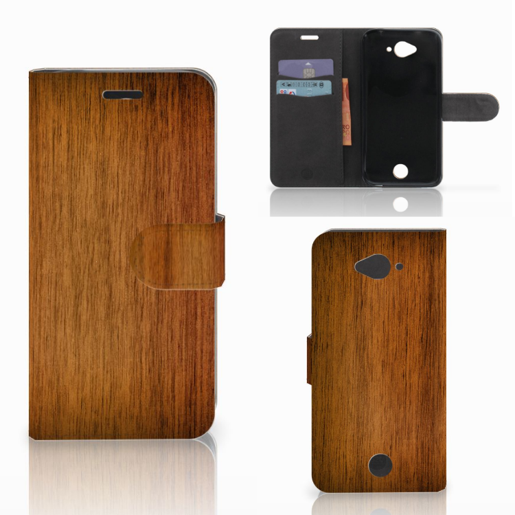 Acer Liquid Z530 | Z530s Book Style Case Donker Hout