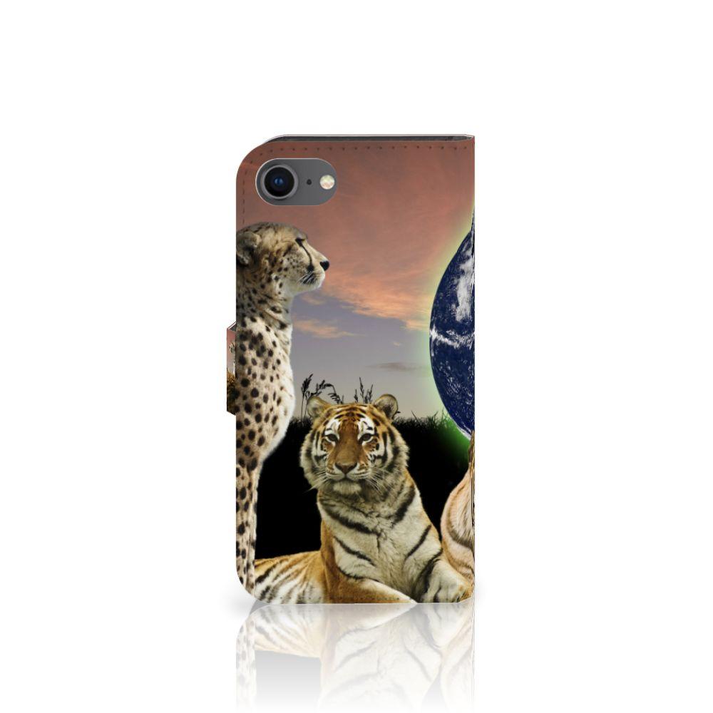 iPhone 7 | 8 | SE (2020) Telefoonhoesje met Pasjes Roofdieren