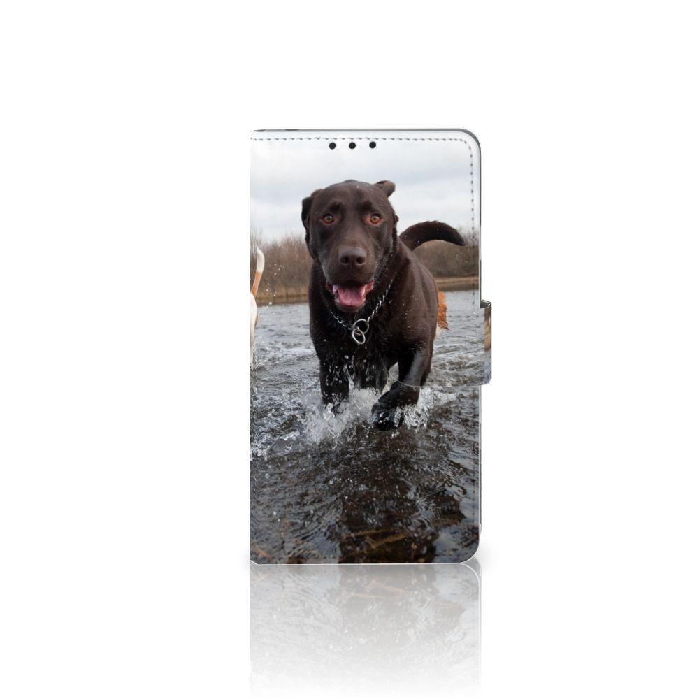 Sony Xperia Z1 Telefoonhoesje met Pasjes Honden Labrador