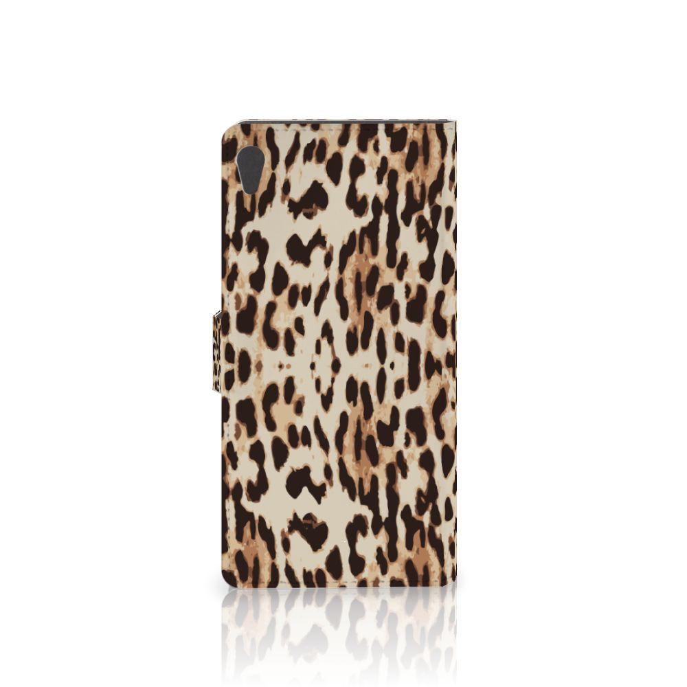 Sony Xperia XA Ultra Telefoonhoesje met Pasjes Leopard