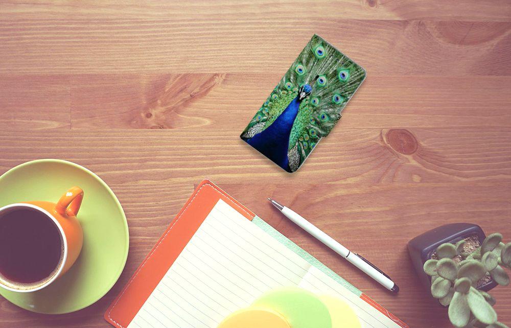 Samsung Galaxy A3 2015 Telefoonhoesje met Pasjes Pauw