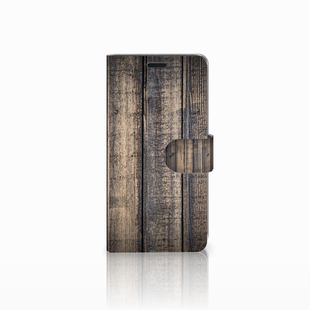 HTC Desire 530 Boekhoesje Design Steigerhout