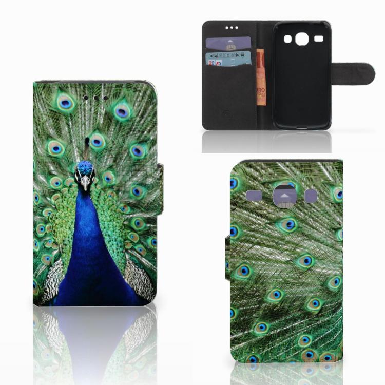 Samsung Galaxy Core i8260 Telefoonhoesje met Pasjes Pauw