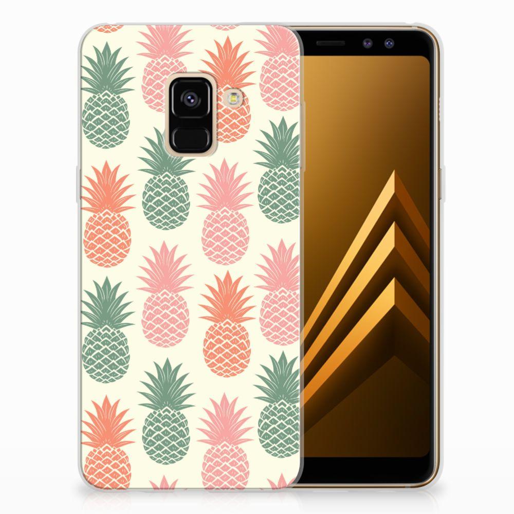Samsung Galaxy A8 (2018) TPU Hoesje Design Ananas