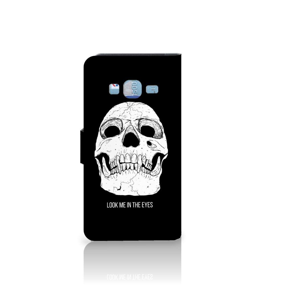 Telefoonhoesje met Naam Samsung Galaxy J3 2016 Skull Eyes