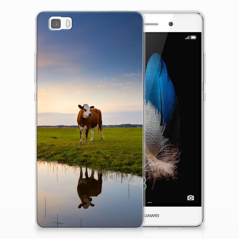 Huawei Ascend P8 Lite TPU Hoesje Design Koe