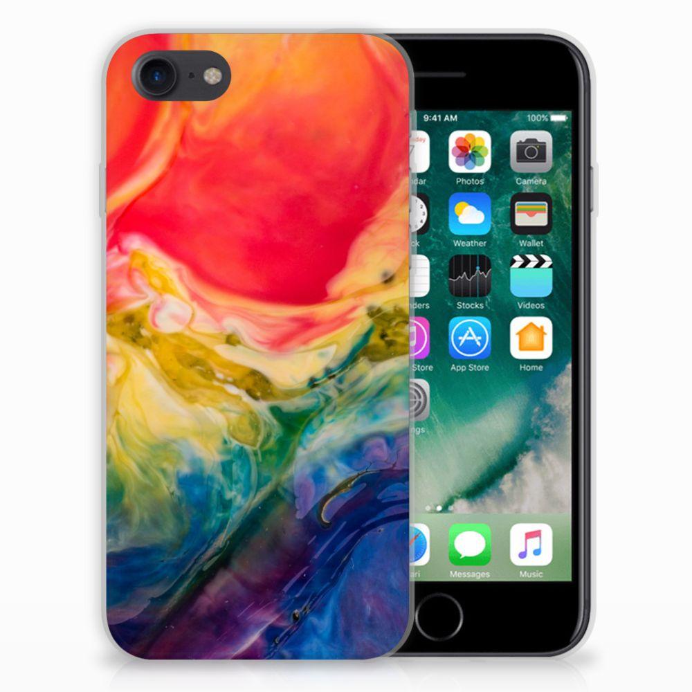 Hoesje maken Apple iPhone 7 | 8 Watercolor Dark