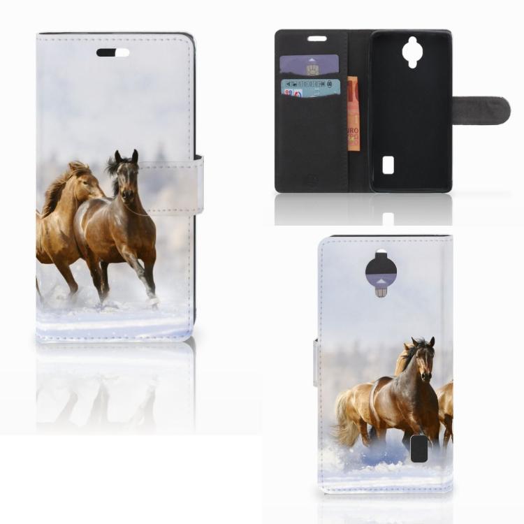 Huawei Y635 Telefoonhoesje met Pasjes Paarden