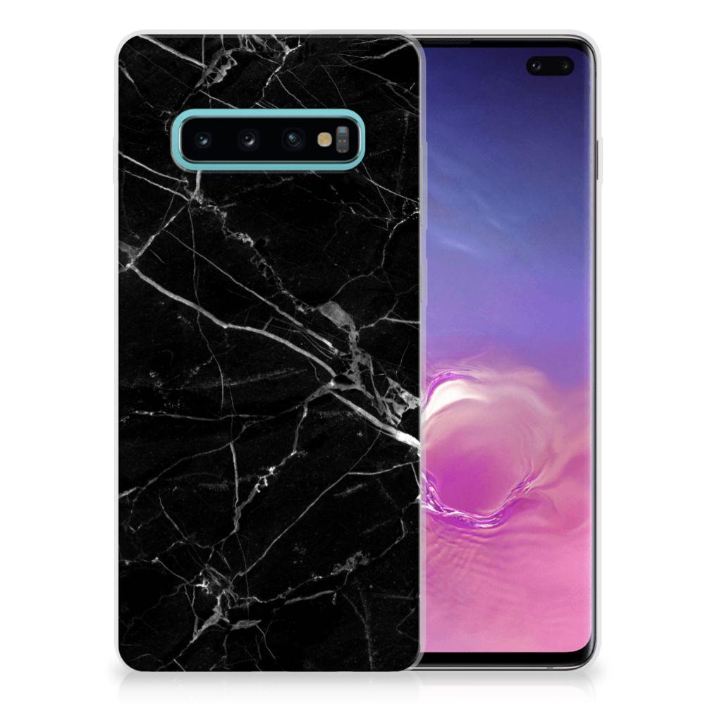Samsung Galaxy S10 Plus Uniek TPU Hoesje Marmer Zwart