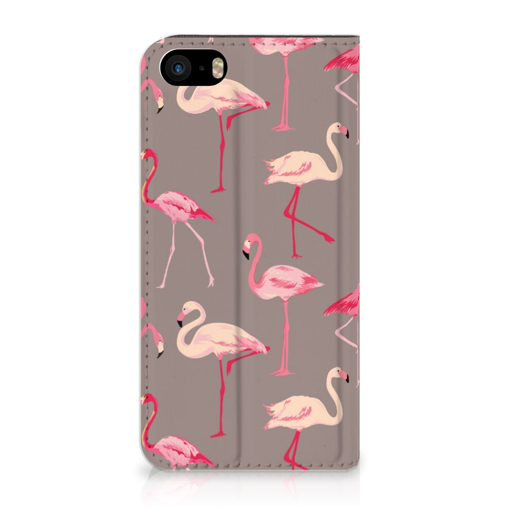 iPhone SE|5S|5 Uniek Standcase Hoesje Flamingo