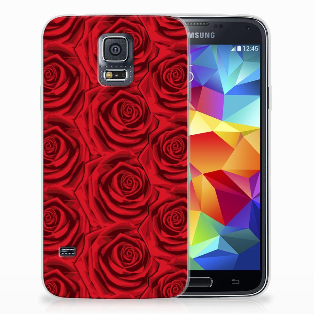 Samsung Galaxy S5 Uniek TPU Hoesje Red Roses