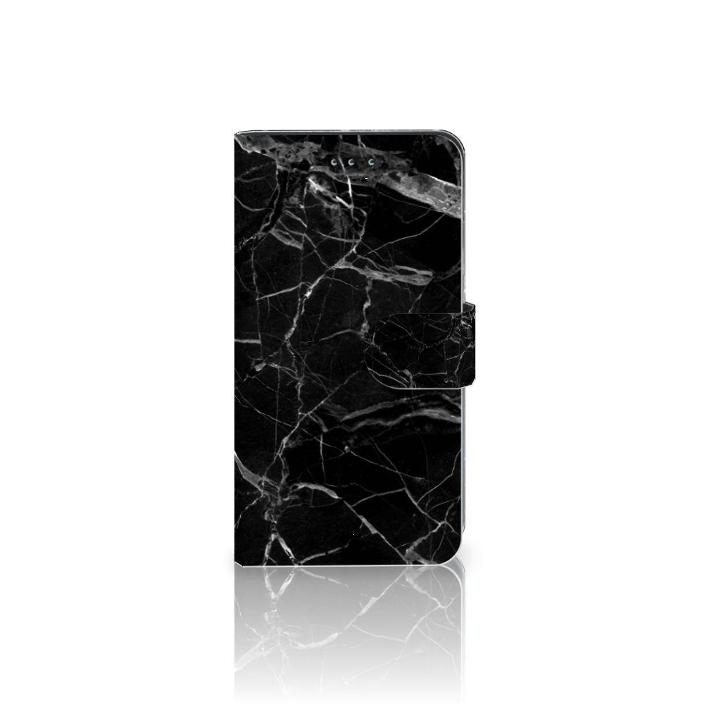 Samsung Galaxy J4 2018 Uniek Boekhoesje Marmer Zwart