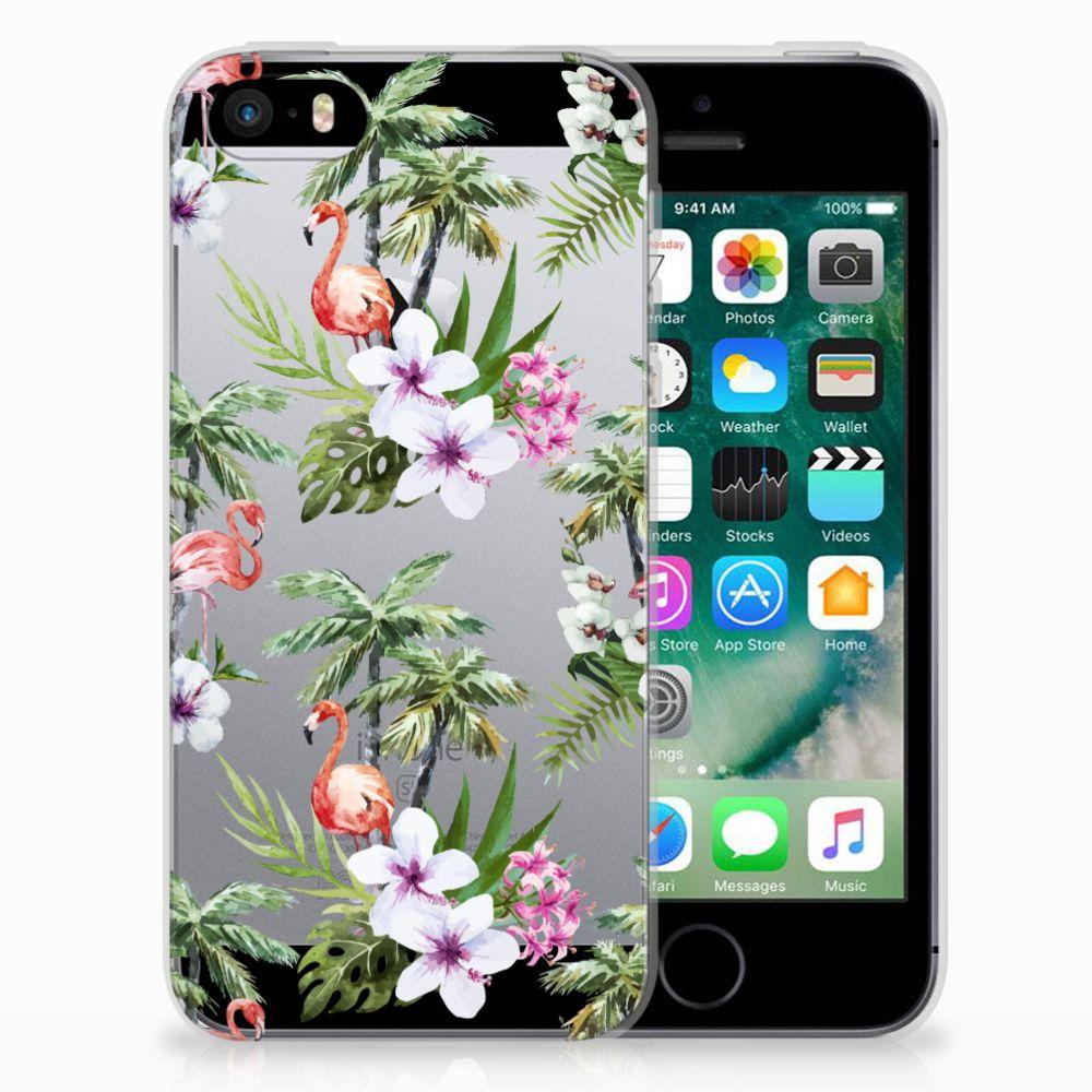 Apple iPhone SE | 5S TPU Hoesje Flamingo Palms