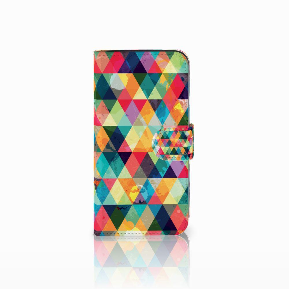 Samsung Galaxy E5 Uniek Boekhoesje Geruit