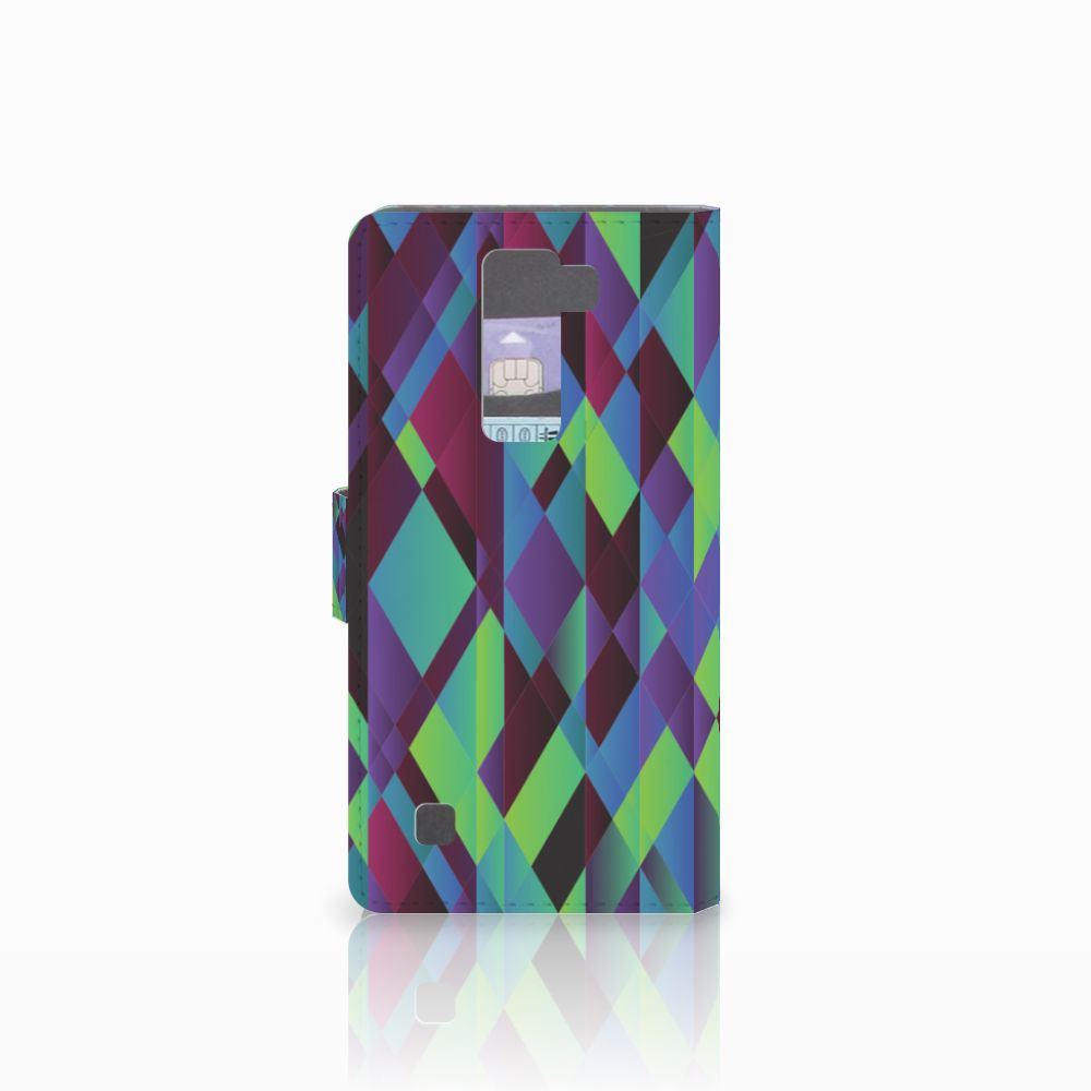 LG K8 Bookcase Abstract Green Blue