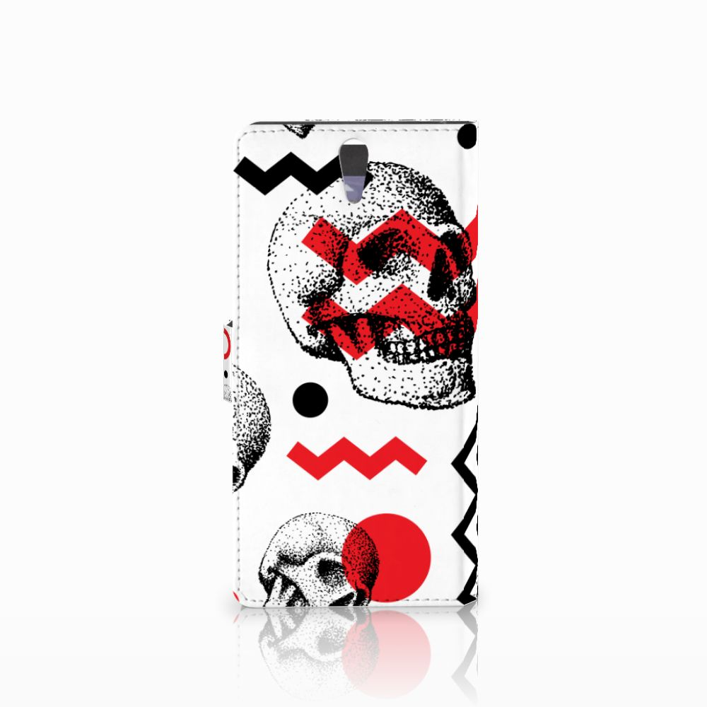 Telefoonhoesje met Naam Sony Xperia C5 Ultra Skull Red