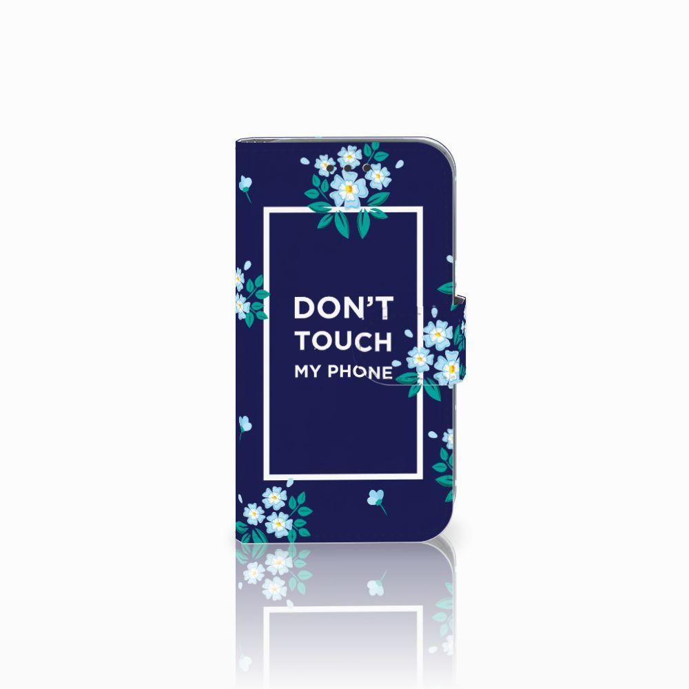 Samsung Galaxy Core Prime Boekhoesje Flowers Blue DTMP