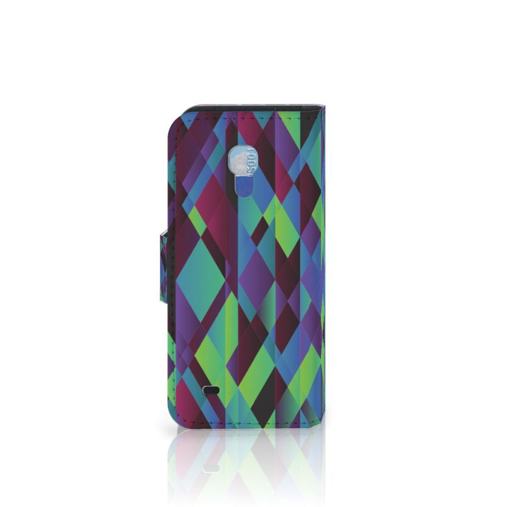 Samsung Galaxy S4 Mini i9190 Bookcase Abstract Green Blue
