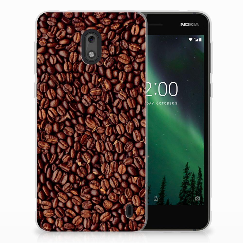 Nokia 2 Siliconen Case Koffiebonen