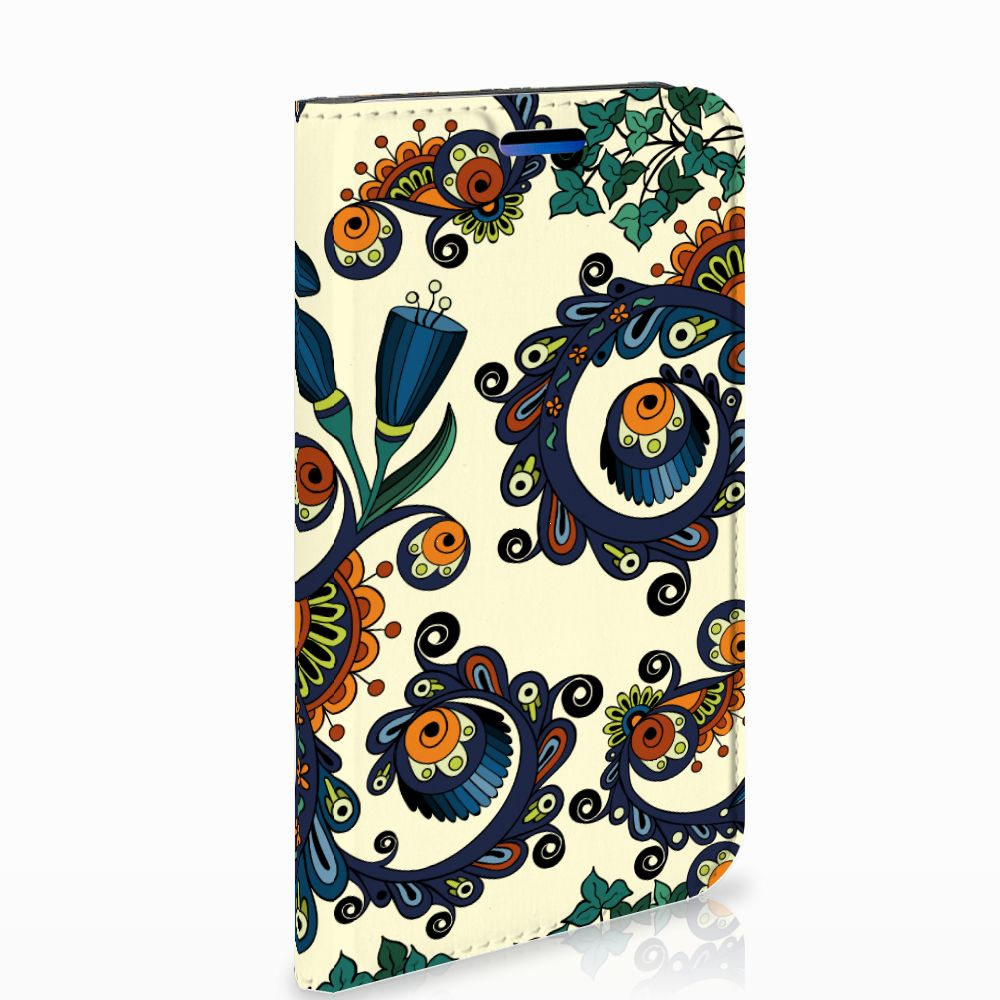 Apple iPhone X | Xs Standcase Hoesje Design Barok Flower
