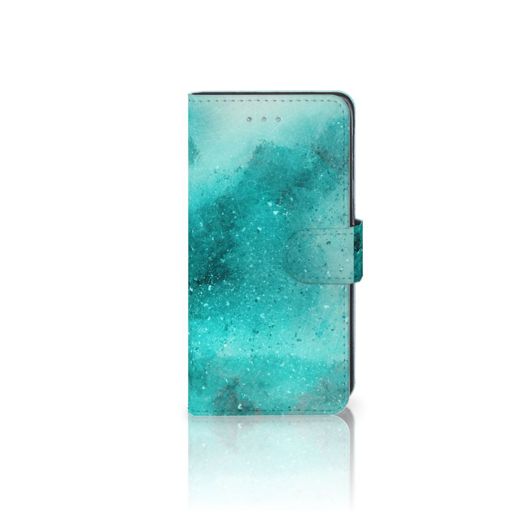 Samsung Galaxy J3 2016 Uniek Boekhoesje Painting Blue