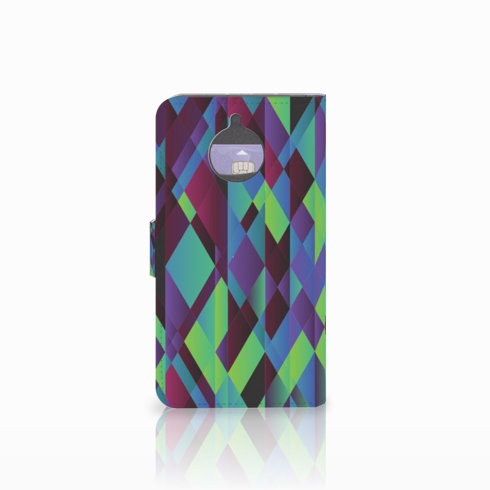 Motorola Moto E4 Plus Bookcase Abstract Green Blue