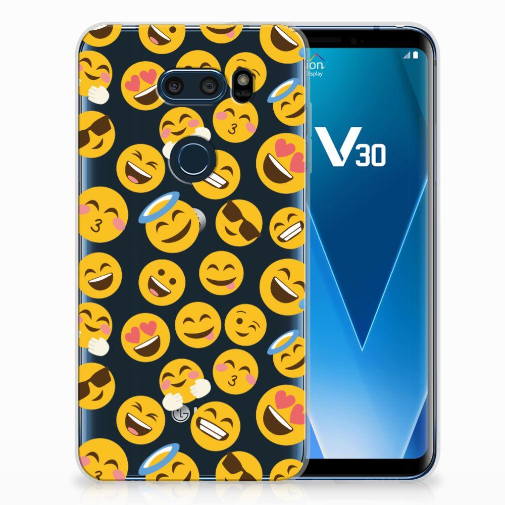 LG V30 TPU bumper Emoji