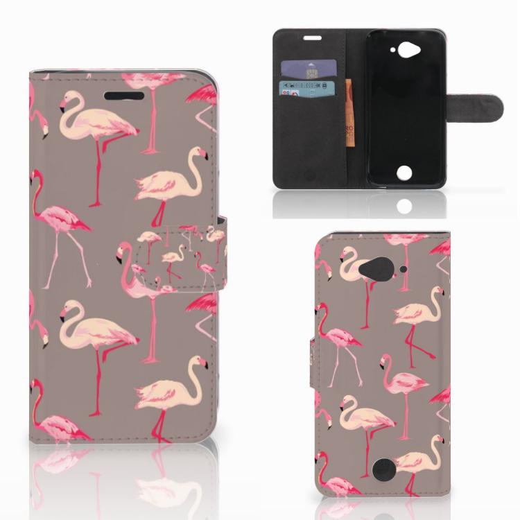 Acer Liquid Z530 | Z530s Telefoonhoesje met Pasjes Flamingo
