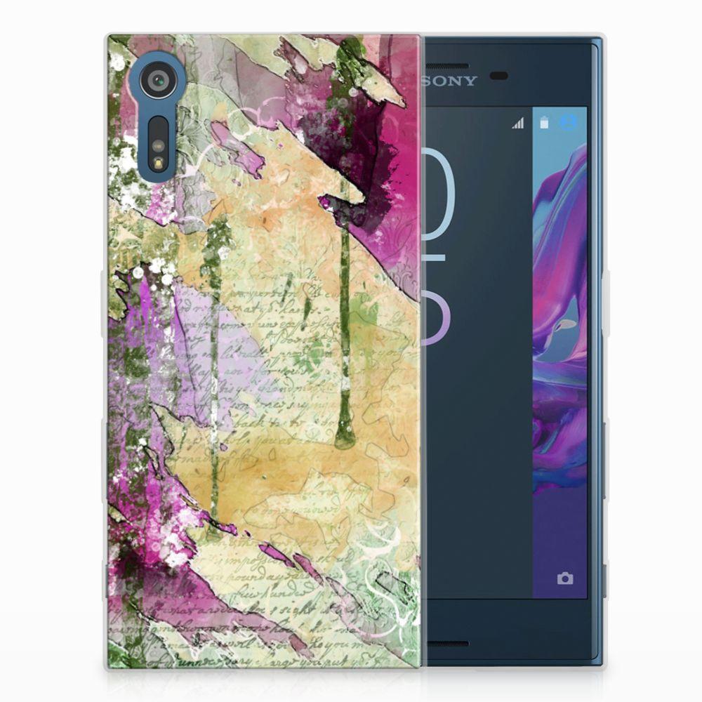 Sony Xperia XZs | XZ Uniek TPU Hoesje Letter Painting