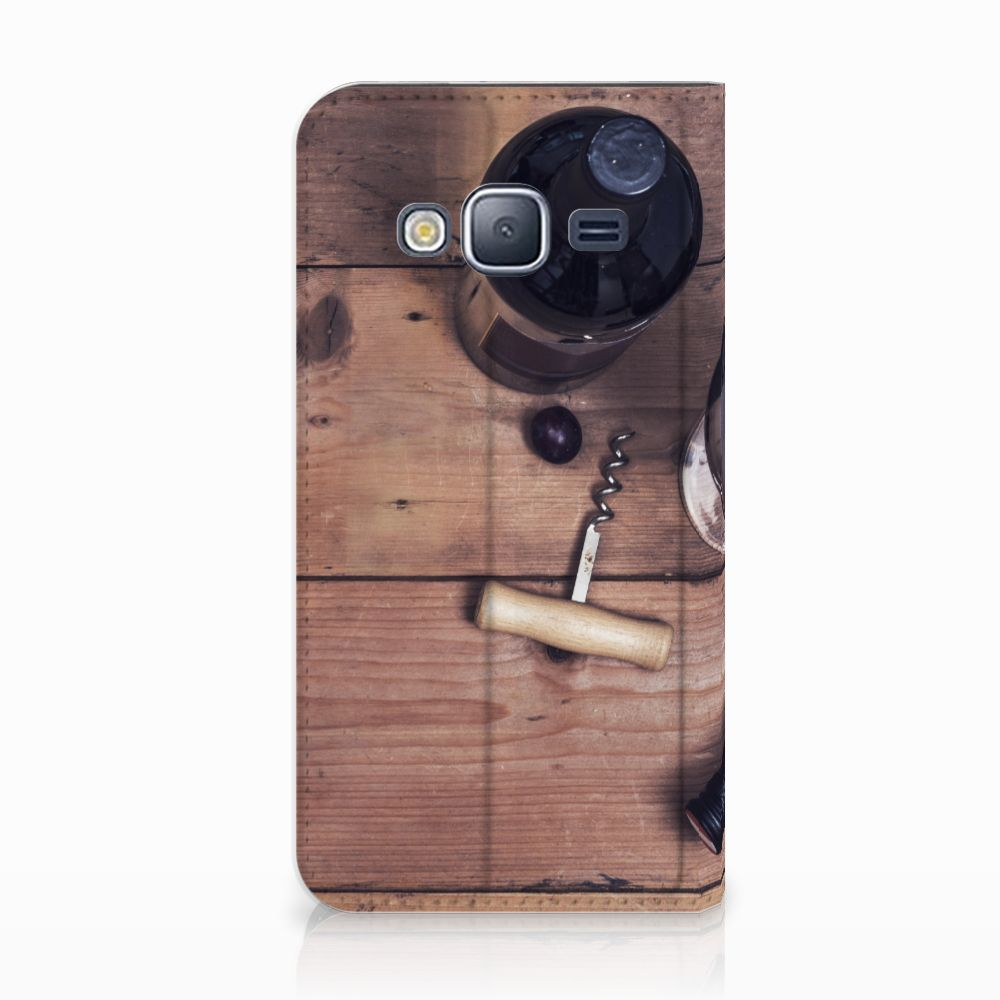 Samsung Galaxy J3 2016 Uniek Standcase Hoesje Wijn